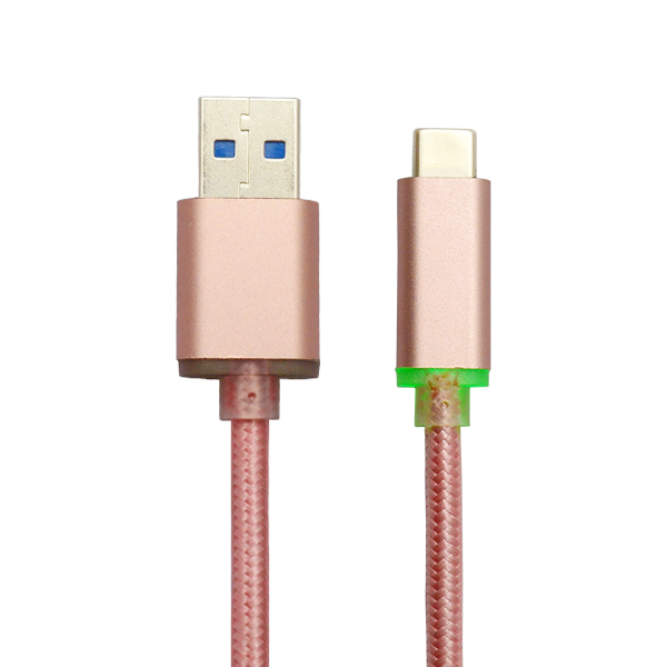 Rose gold LED usb c
