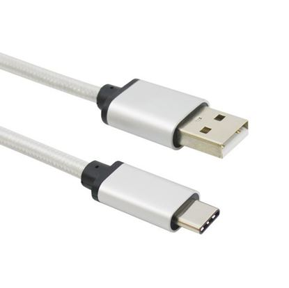 Picture of USB Type C male to USB2.0 A cable with Braided Aluminium Alloy Shell