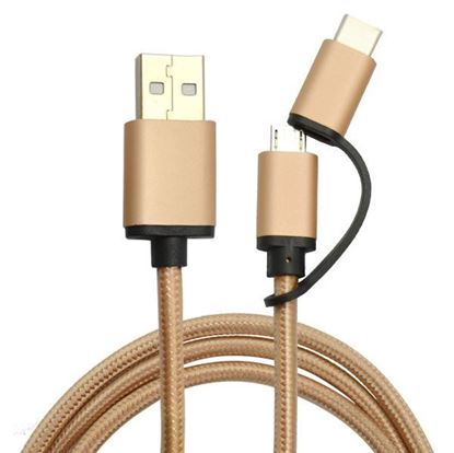 Picture of 2-in-1 USB2.0 A To Micro B&Type C Cable