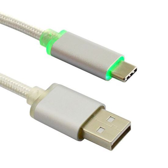 Picture of 2m Type-C USB To USB 2.0 Type-A with LED Light